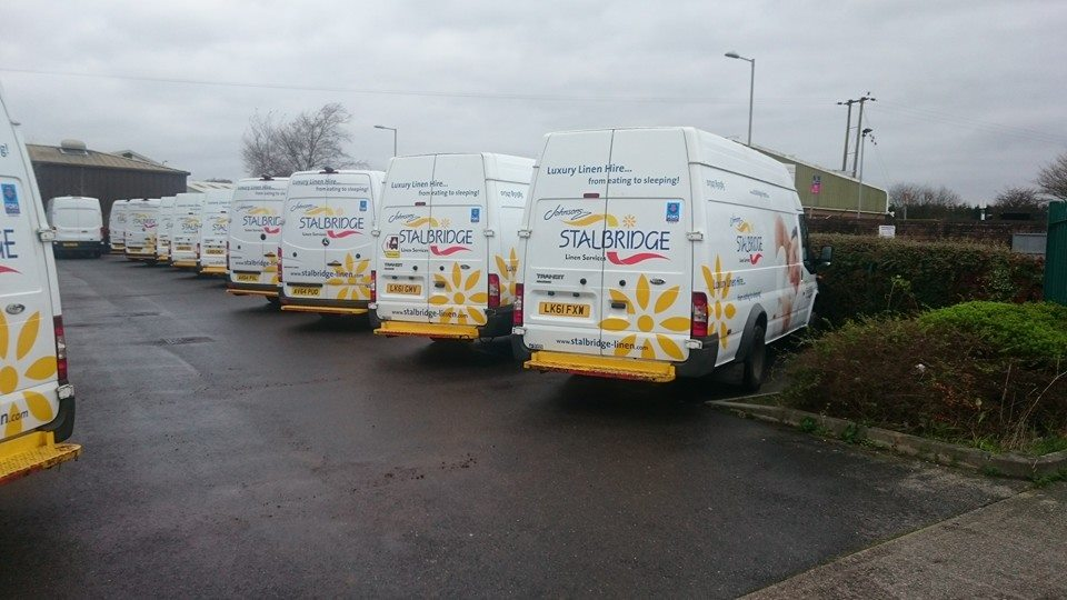 Fleet cleaning for Stalbridge linen vans