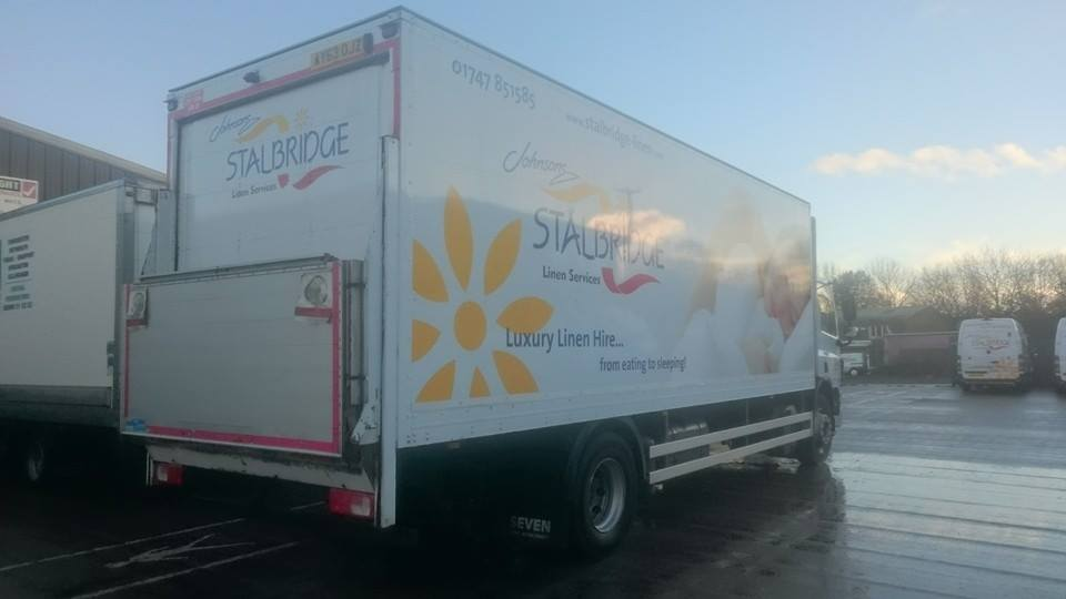 Fleet cleaning for these Stalbridge Linen Lorries in Shaftesbury