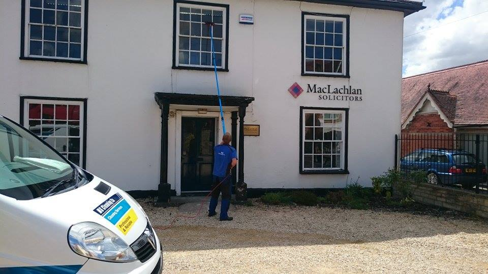 Business window cleaning for Maclahlan Solicitors, Gillingham, Dorset