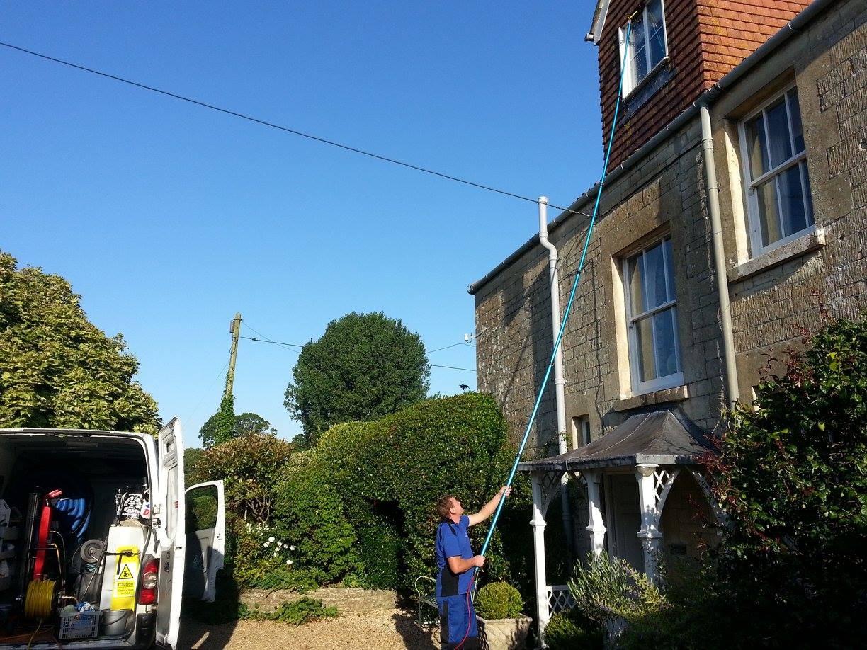 Water fed window cleaning in Dorset