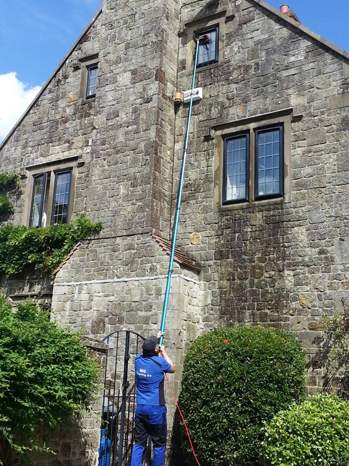 Window cleaning 3 storey house in Dorset