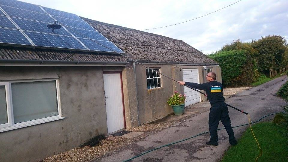 Solar panel cleaning in Dorset