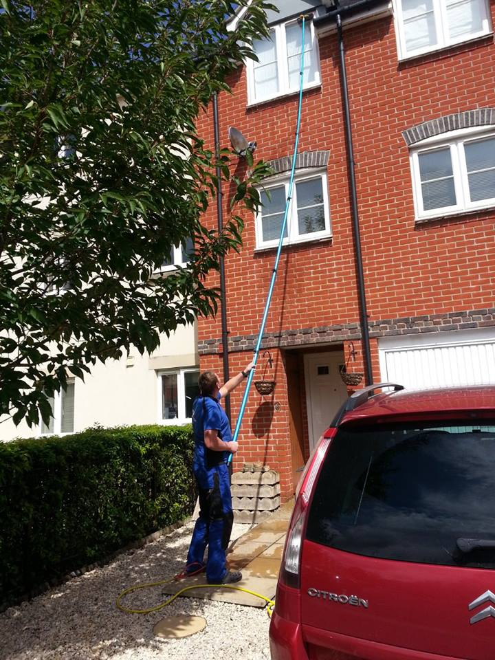 Window Cleaning Townhouse in Gillingham, Dorset