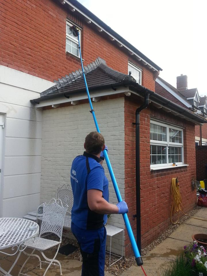 Window Cleaning over extension Gillingham